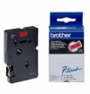 Páska BROTHER TC491 Black On Red Tape (9mm)